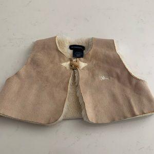 Burberry faux fur vest